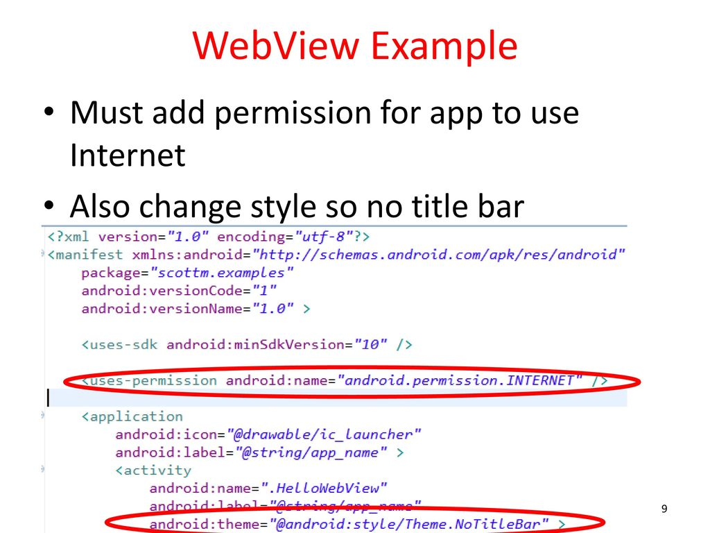WebView and Web Services - ppt download