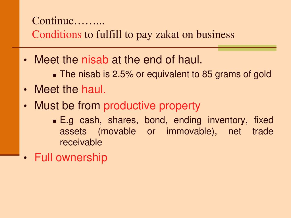 nisab illustration to calculate zakat ppt download nisab illustration to calculate zakat