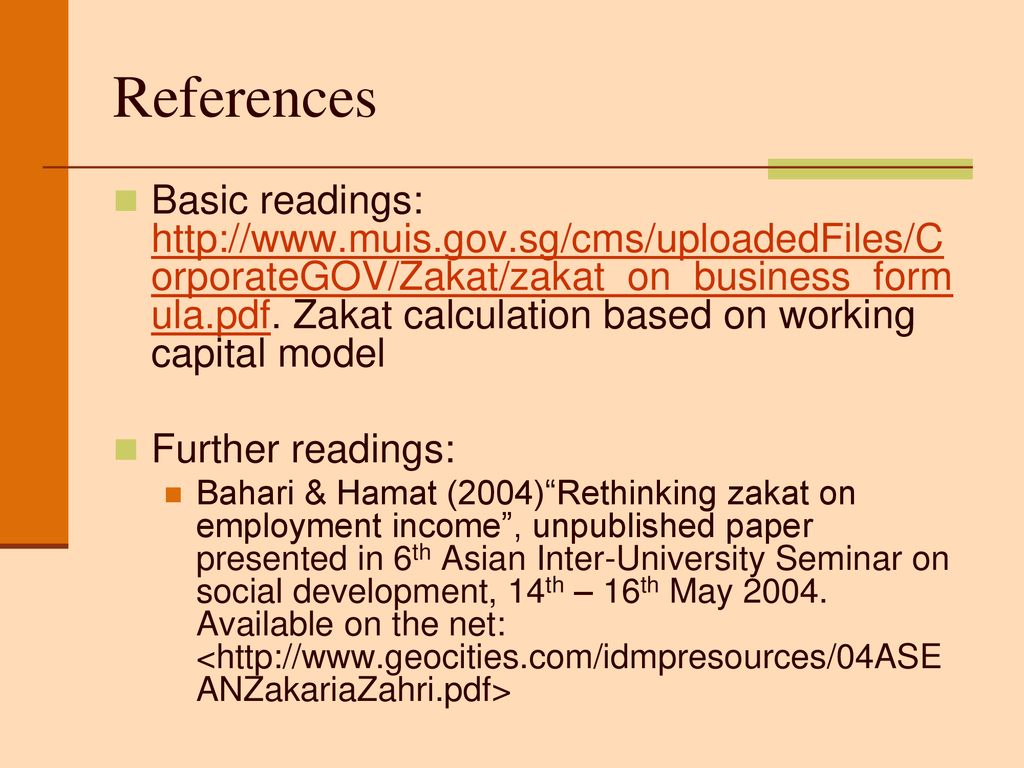 Illustration to calculate zakat - ppt download