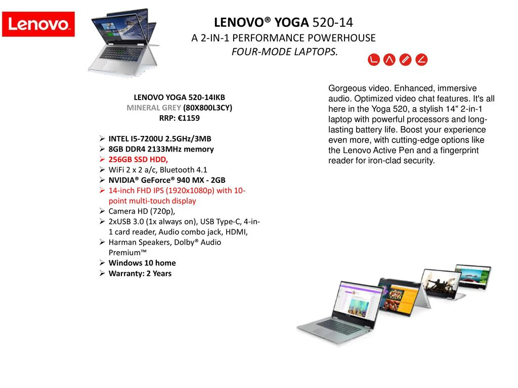 Lenovo Consumer Notebooks - ppt download