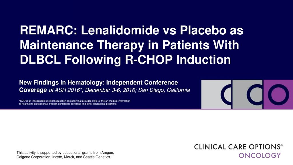 REMARC: Lenalidomide vs Placebo as Maintenance Therapy in