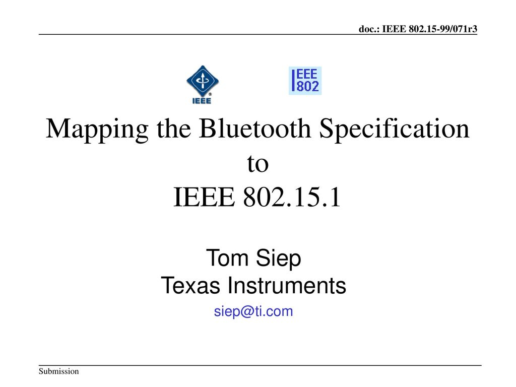 Mapping the Bluetooth Specification to IEEE