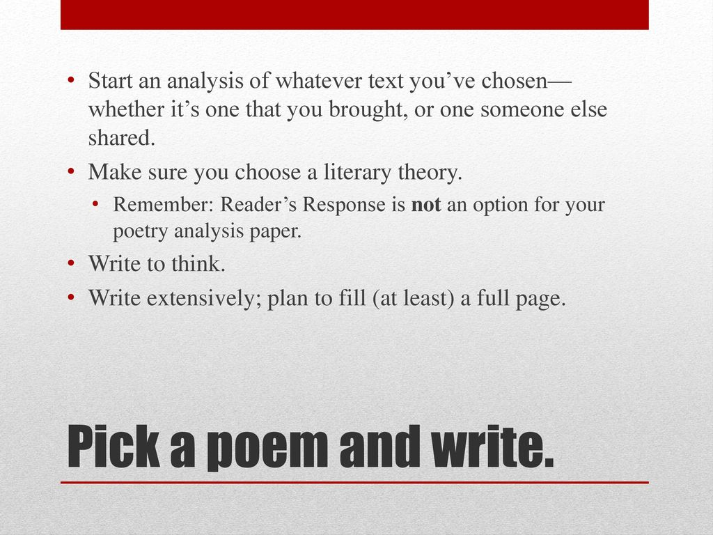 the chosen ones poem analysis