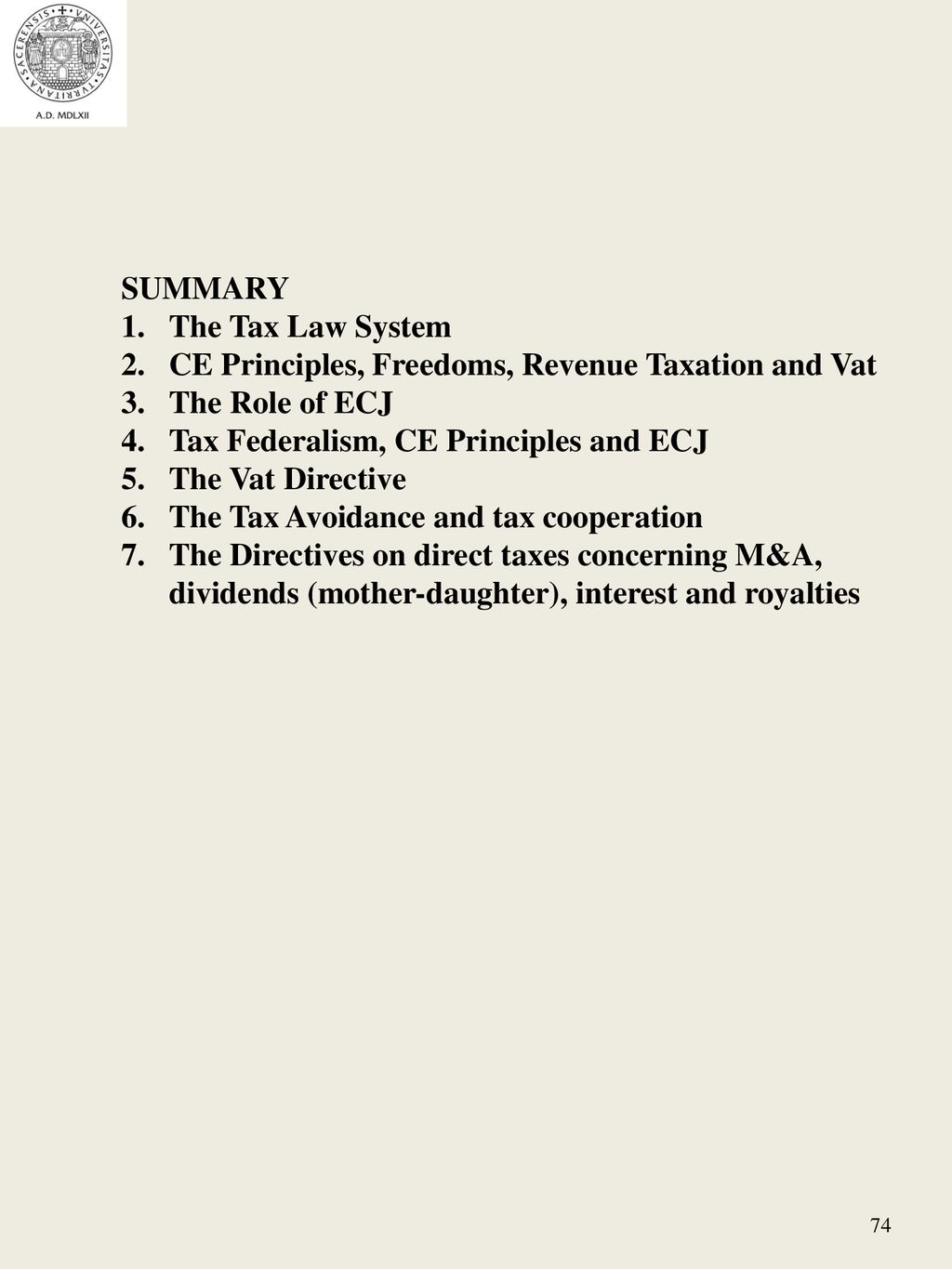 Principles of tax law and taxation 30