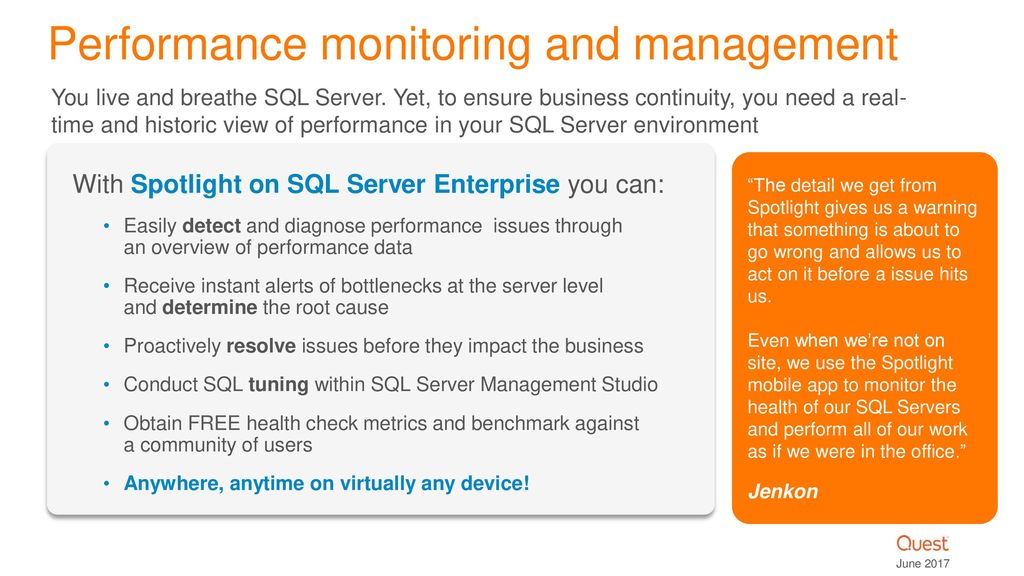 Database Performance Monitoring Solutions for SQL Server