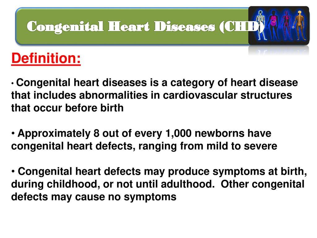 congenital heart diseases - ppt download