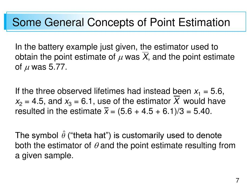 Some General Concepts Of Point Estimation Ppt Download