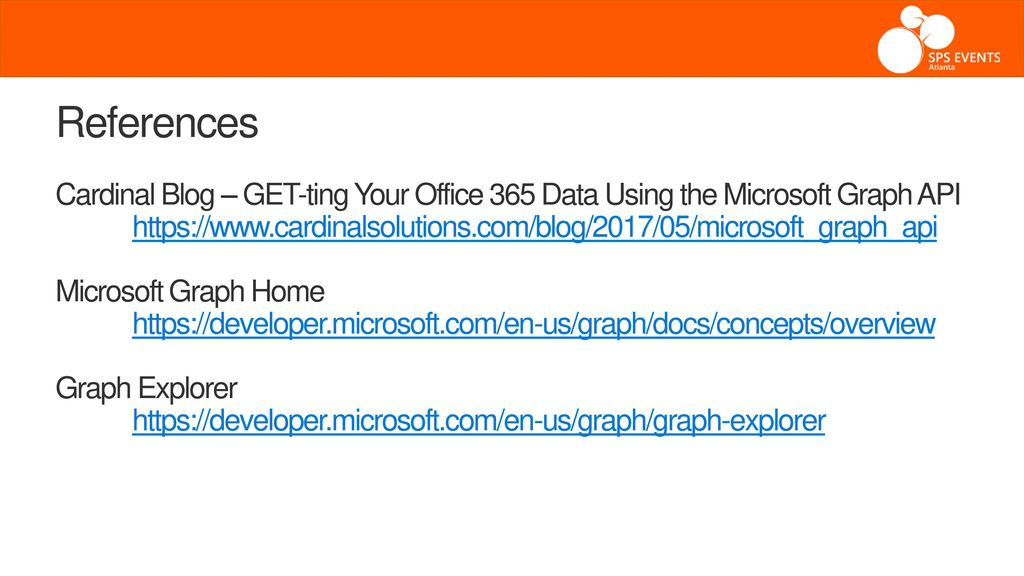 GET-ting Your Office 365 Data Using the Microsoft Graph API - ppt