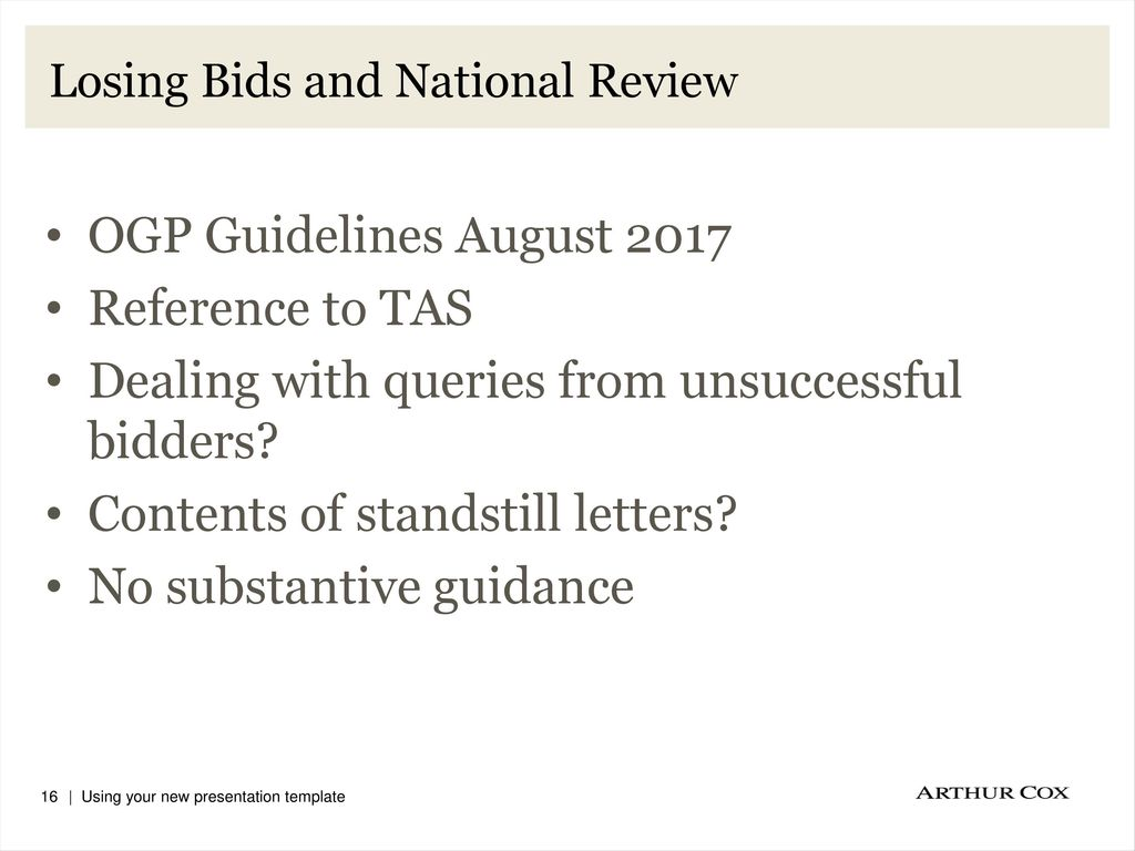 losing bids and national review