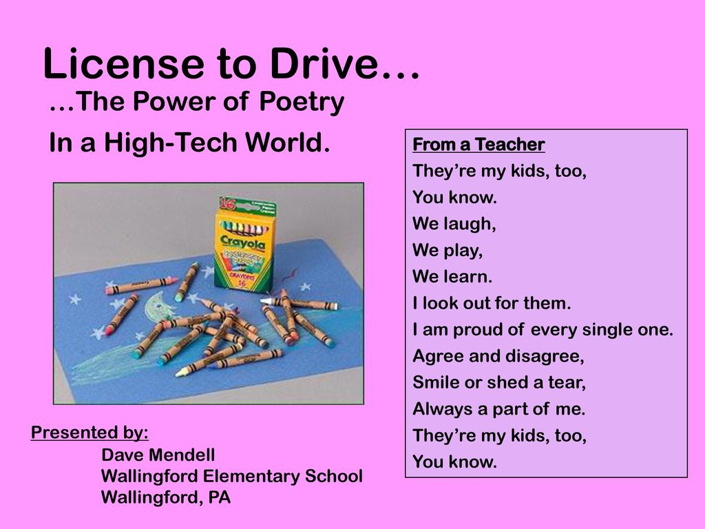 License To Drive The Power Of Poetry In A High Tech World Ppt Hi Im Trying Bring Electricity Into My Shed That Is