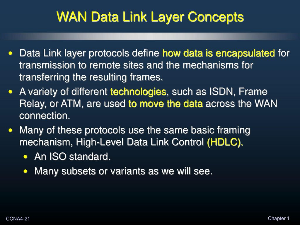Table Of Contents 1 Introduction To Wans 2 Ppp 3 Frame Relay Basic Concepts Wan Data Link Layer