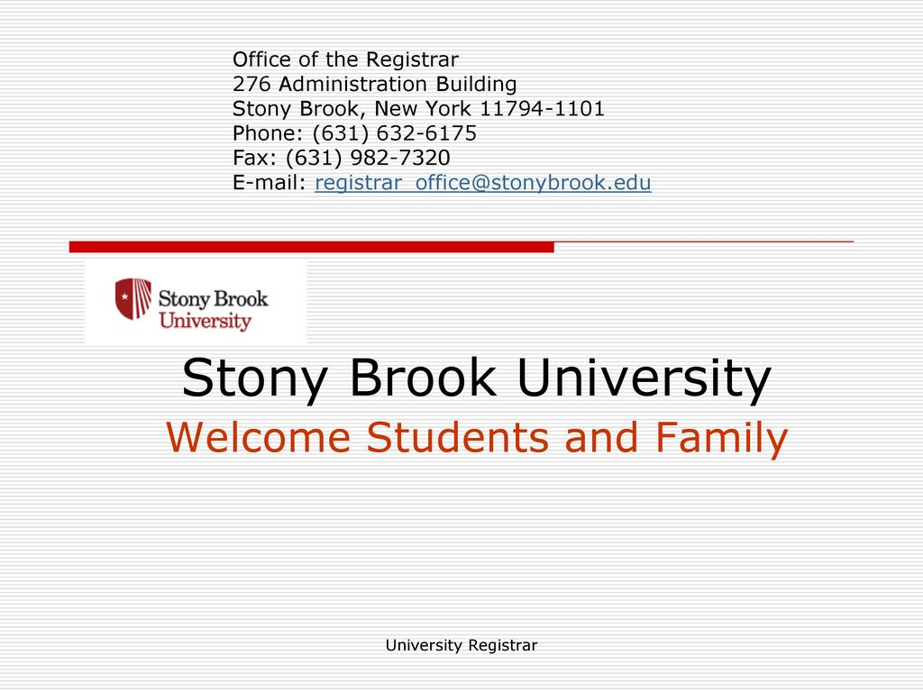 Sbu Academic Calendar.Stony Brook University Welcome Students And Family Ppt Download