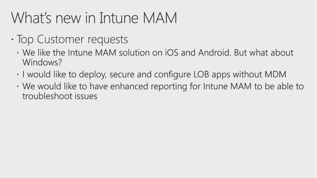 Mobile device and app management with Microsoft Intune - ppt