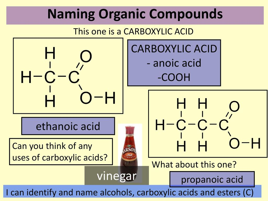 Match the organic compounds to the correct pictures - ppt