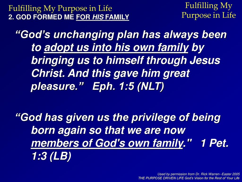 Fulfilling My Purpose in Life - ppt download