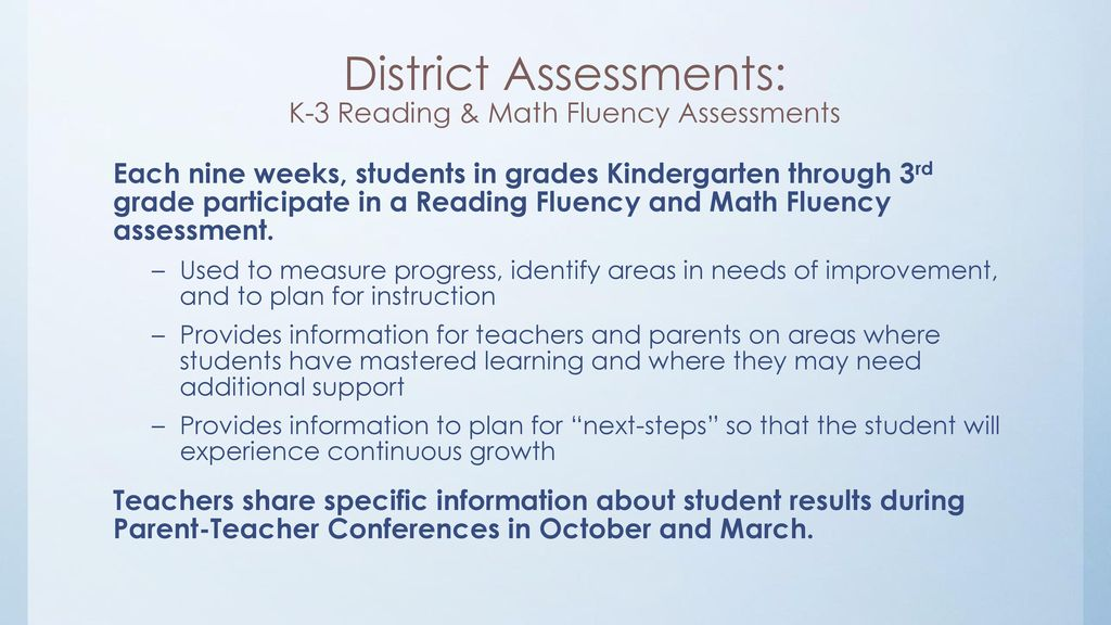 Assessments and Tests: Providing information on student learning ...