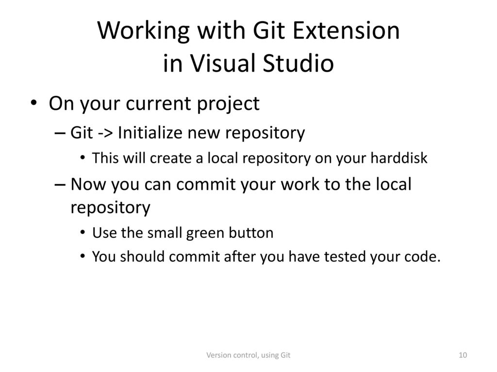 Version control, using Git - ppt download