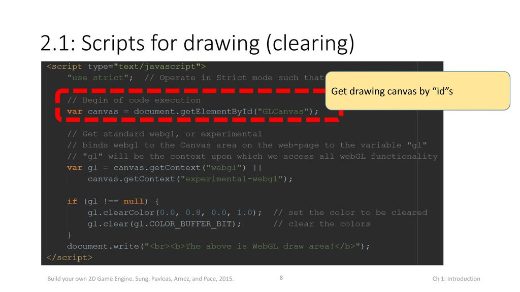 The Basics: HTML5, Drawing, and Source Code Organization