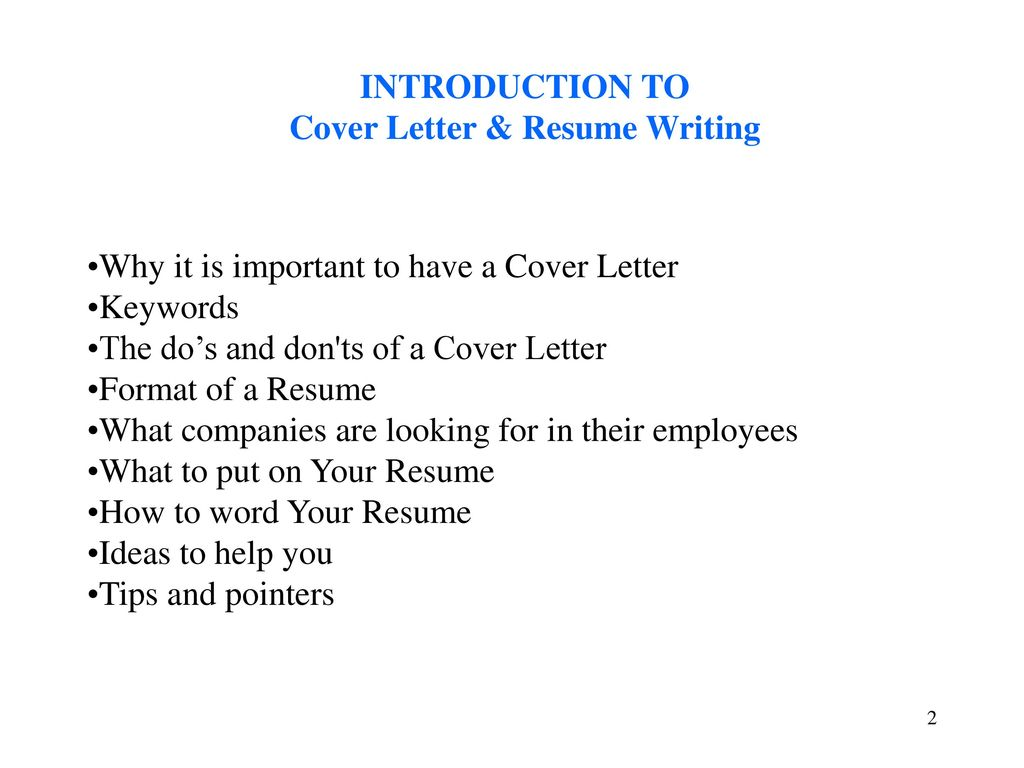 Cover Letter And Resume Writing To Get You Noticed Ppt Download