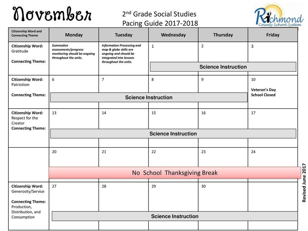 4 2nd Grade Social Studies Pacing Guide ...
