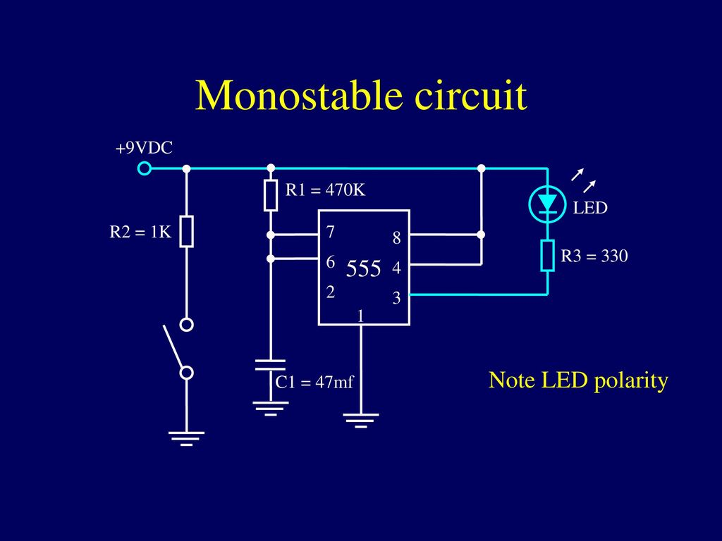 Integrated Circuits Ppt Download 555 Monostable Circuit 17