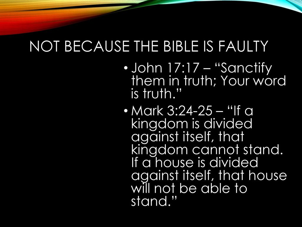 a house divided against itself cannot stand bible