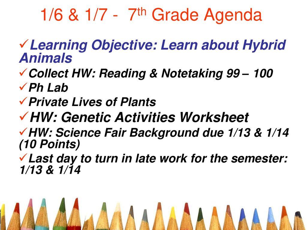 16 17 7th grade agenda learning objective learn about hybrid 1 16 ibookread Read Online