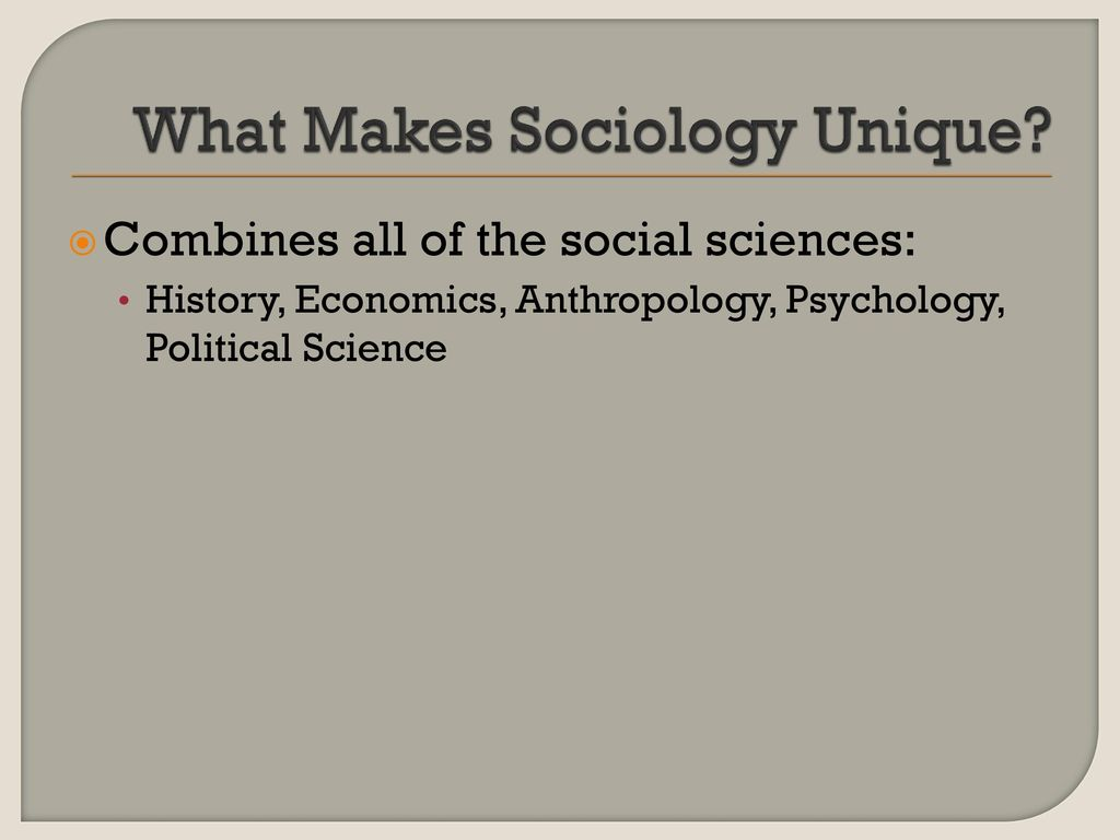 what makes sociology a science