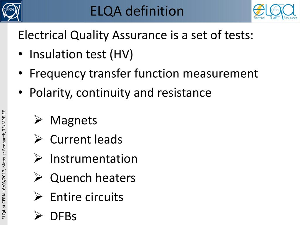 elqa how to define test voltages - ppt download