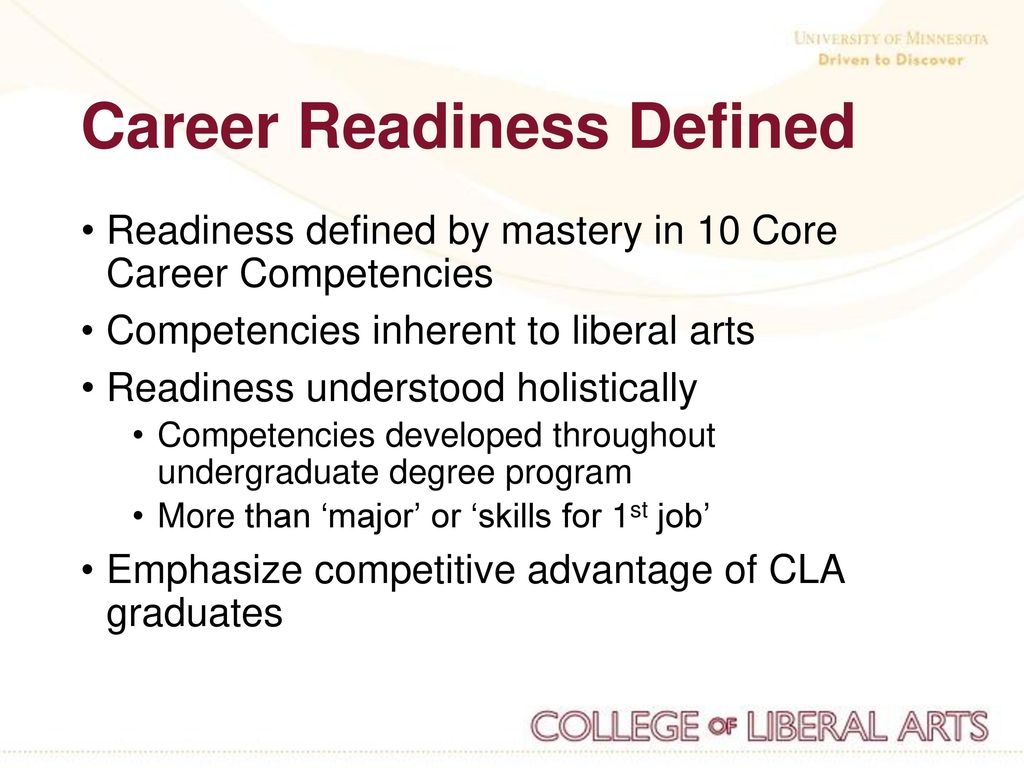 the advisor's role in career readiness for liberal arts students