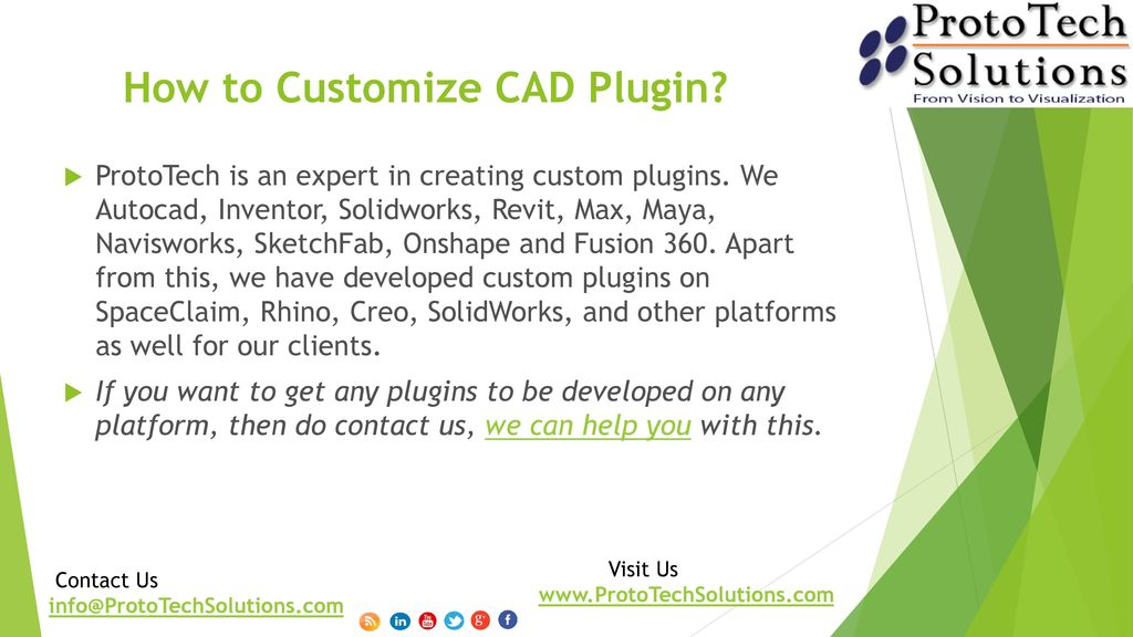 CAD Customization Contact Us Visit Us - ppt download