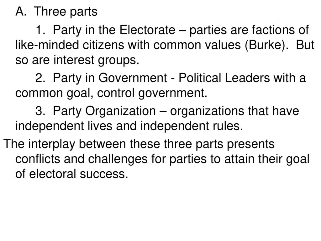 what do political parties and interest groups have in common