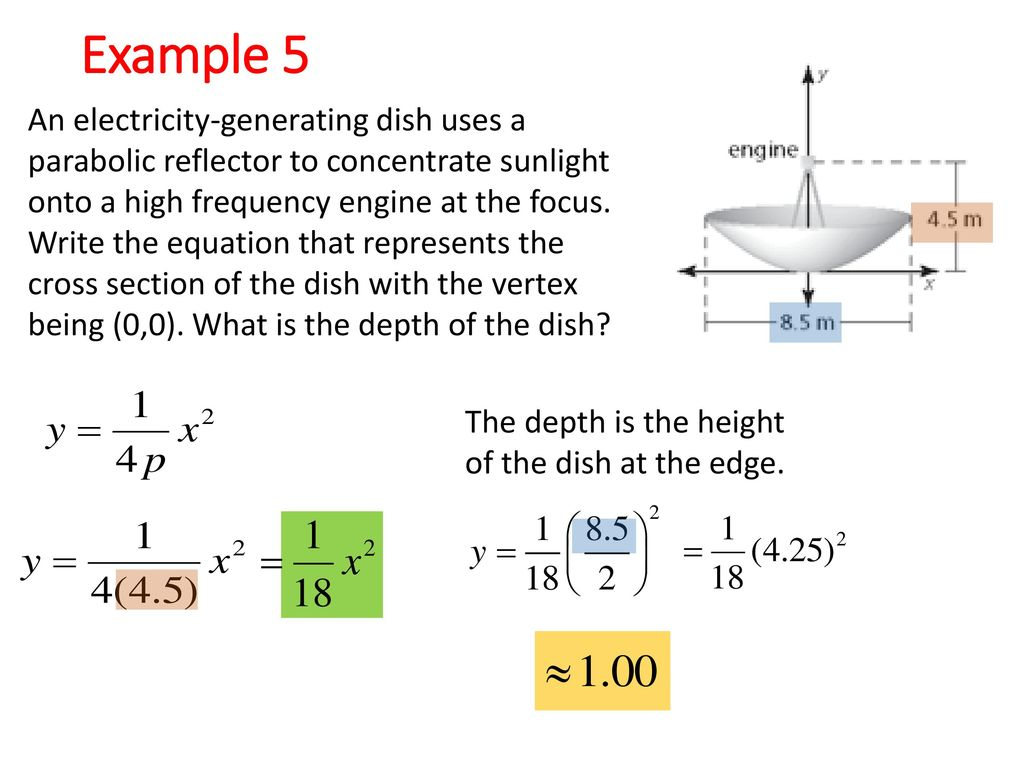 2-3: Focus of a Parabola Explore the focus and the directrix