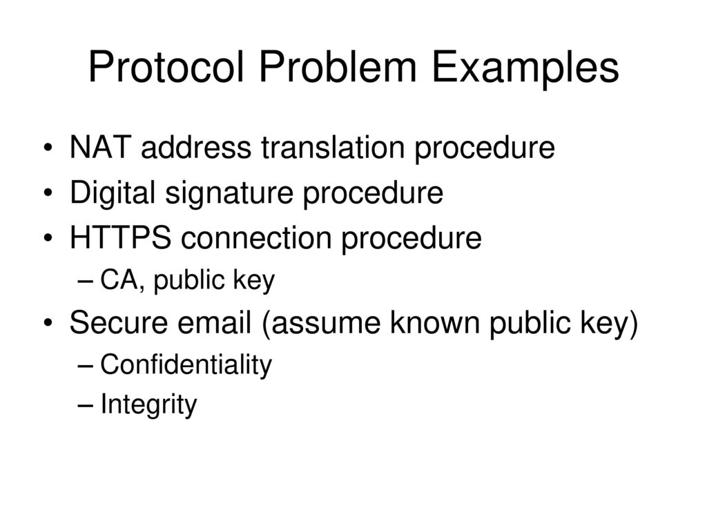 Final Exam Review Will Release At 1000am Dec 6th Ppt Download Keysecure 3b Wiring Diagram 5 Protocol Problem Examples