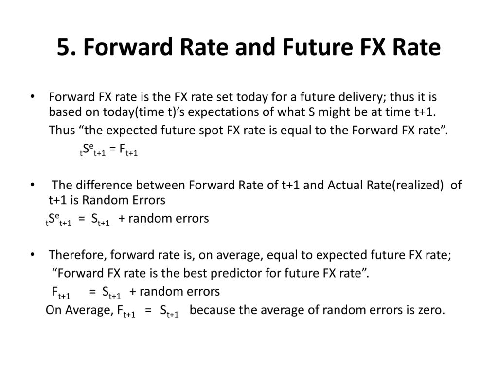 Forward Rate And Future Fx