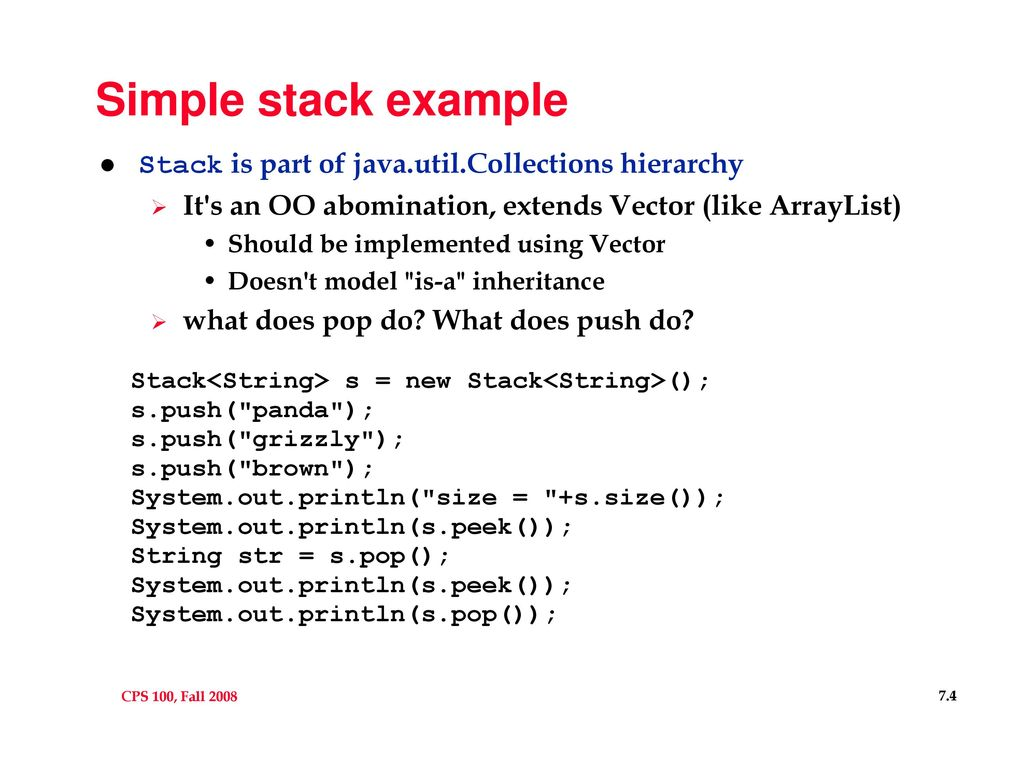 Java Stack Example Choice Image Example Cover Letter For Resume