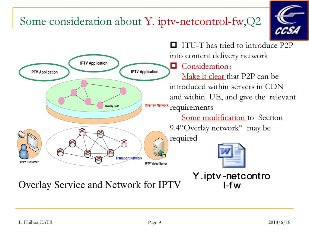 IPTV mechanism for content delivery using P2P - ppt download