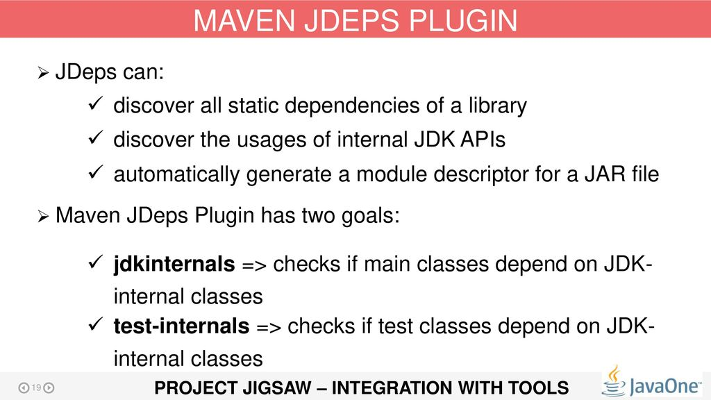 PROJECT JIGSAW – INTEGRATION WITH TOOLS - ppt download