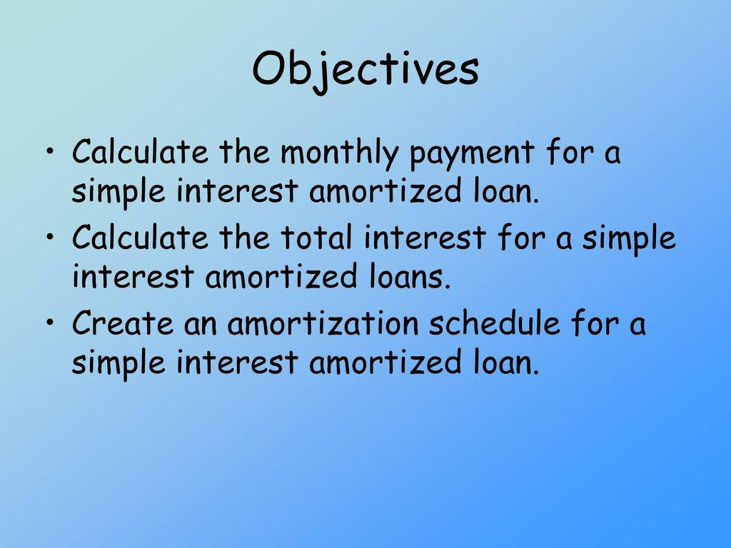 simple interest calculator with amortization schedule