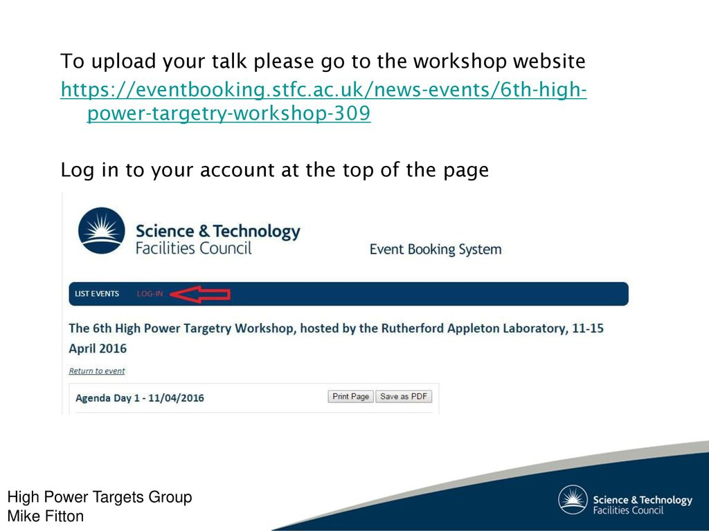 6th High Power Targetry Workshop - ppt download