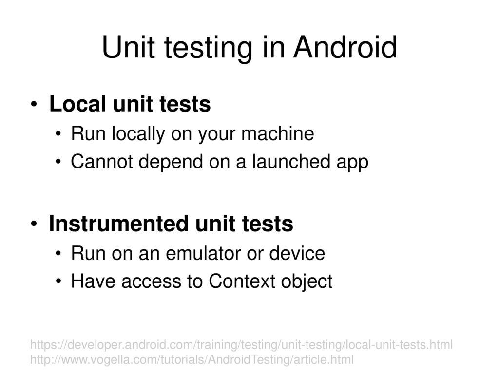 Unit tests Landon Cox April 25, ppt download