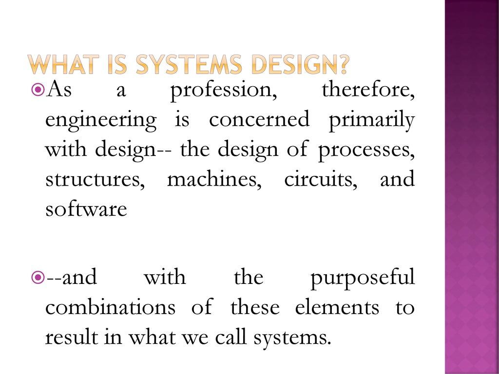 Systems Design Ppt Download