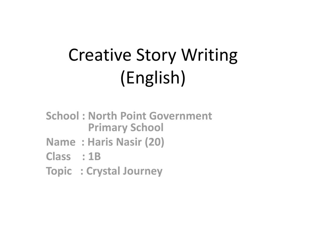 english story writing topics