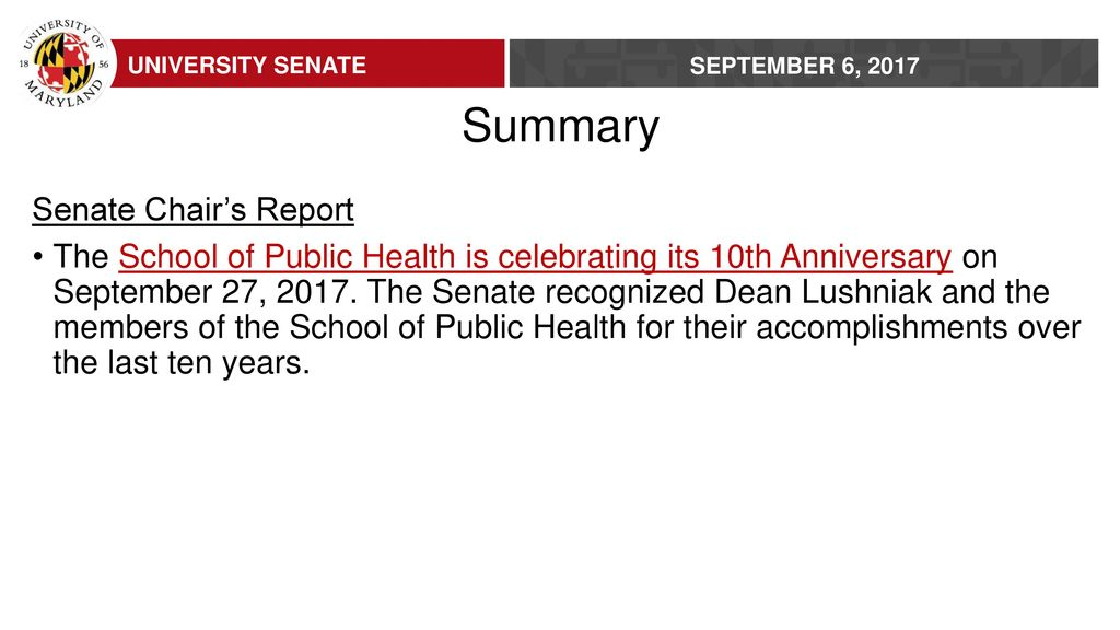 Senate Meeting Summary - ppt download