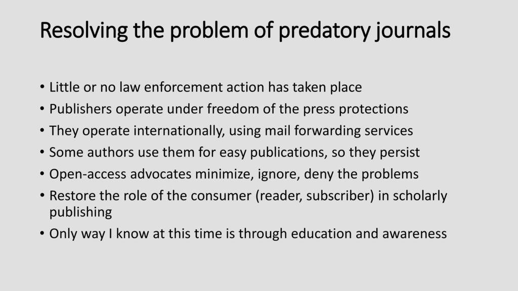 Update Predatory Open Access Scholarly Publishers