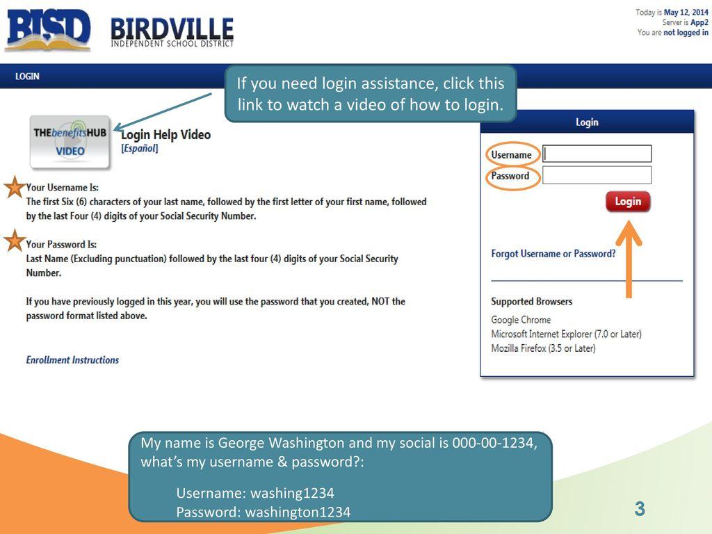 Birdville Isd New Hire Enrollment Walkthrough Ppt Download