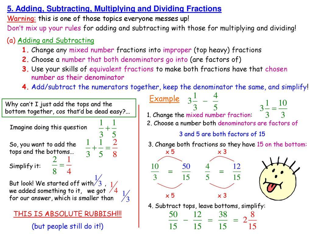 mr f's maths notes number 6. fractions. - ppt download
