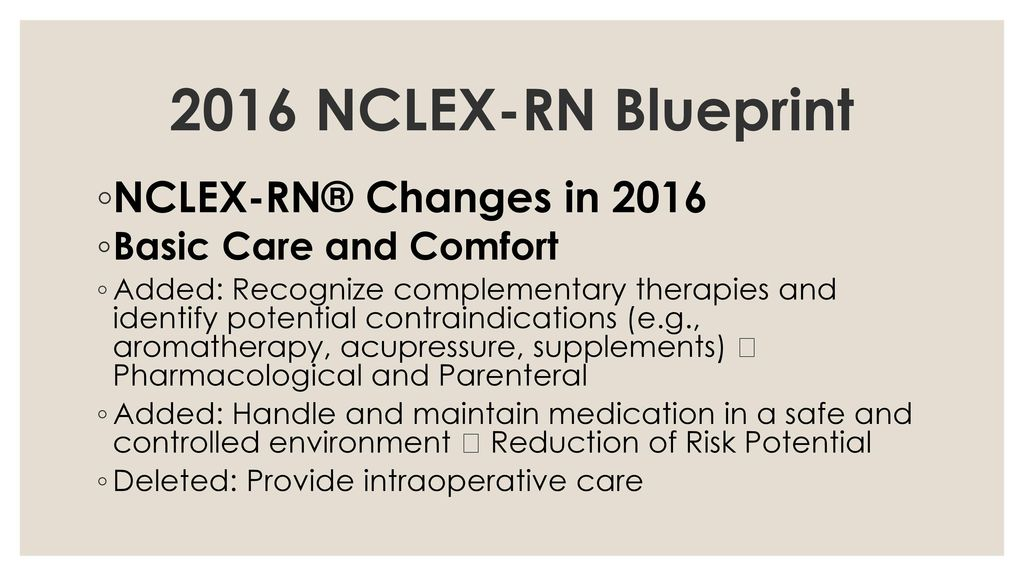 The mystery of nclex unravelled ppt download 2016 nclex rn blueprint nclex rn changes in 2016 malvernweather Gallery