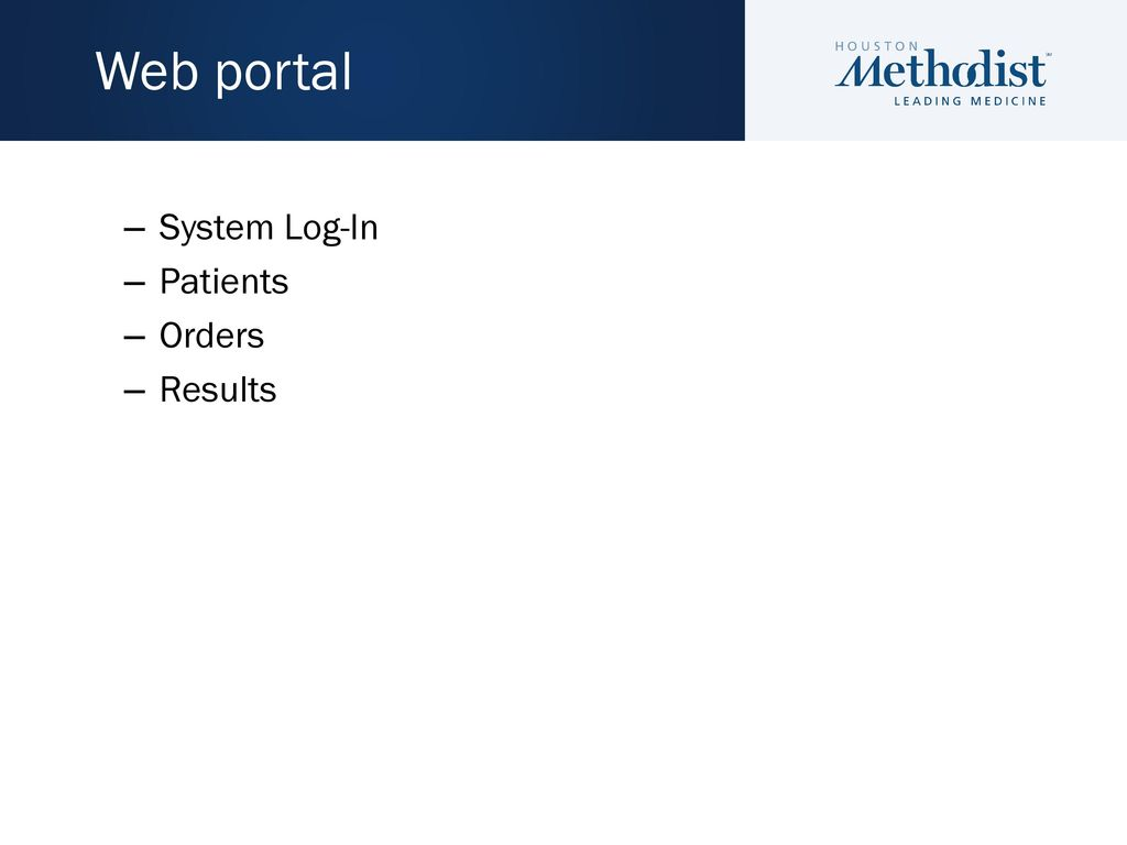 Houston Methodist Diagnostic Laboratories - ppt download
