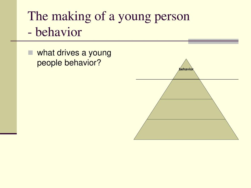 The making of a young person - behavior